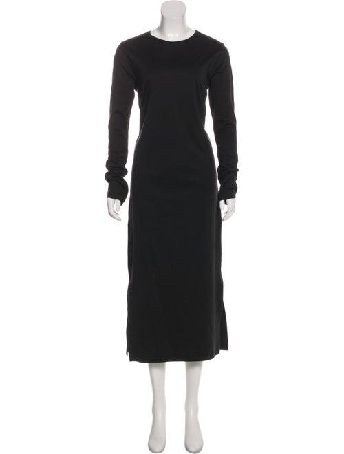Bassike Long Sleeve Maxi Dress Black