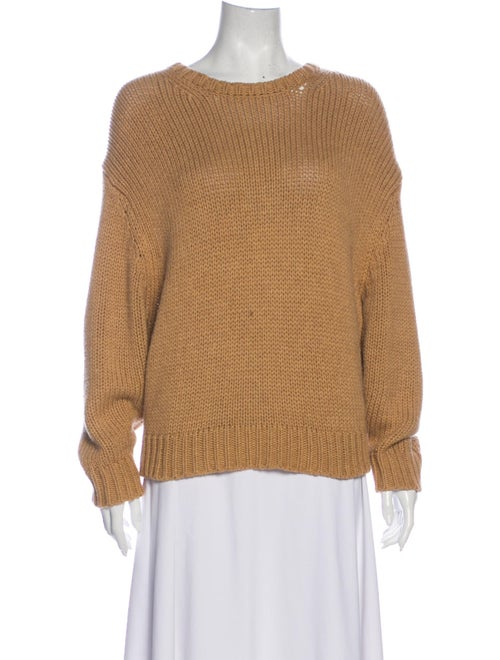 Bassike Crew Neck Sweater Brown