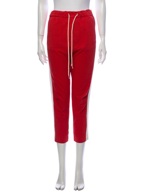 Bassike Straight Leg Pants Red