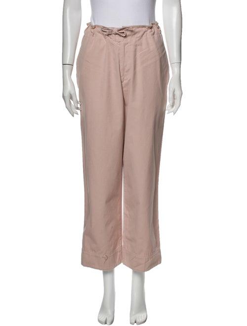 Bassike Straight Leg Pants Pink