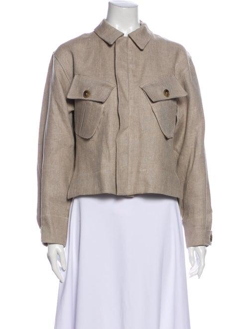 Bassike Linen Utility Jacket Clear