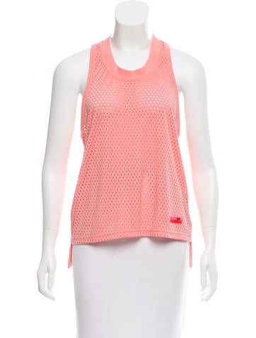Stella McCartney for Adidas Mesh-Accented Racerback Top None