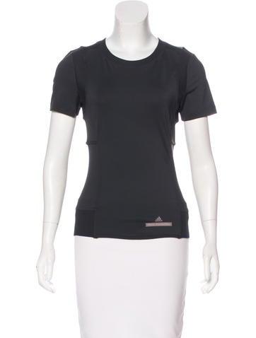 Stella McCartney for Adidas Mesh-Paneled Cutout Top None