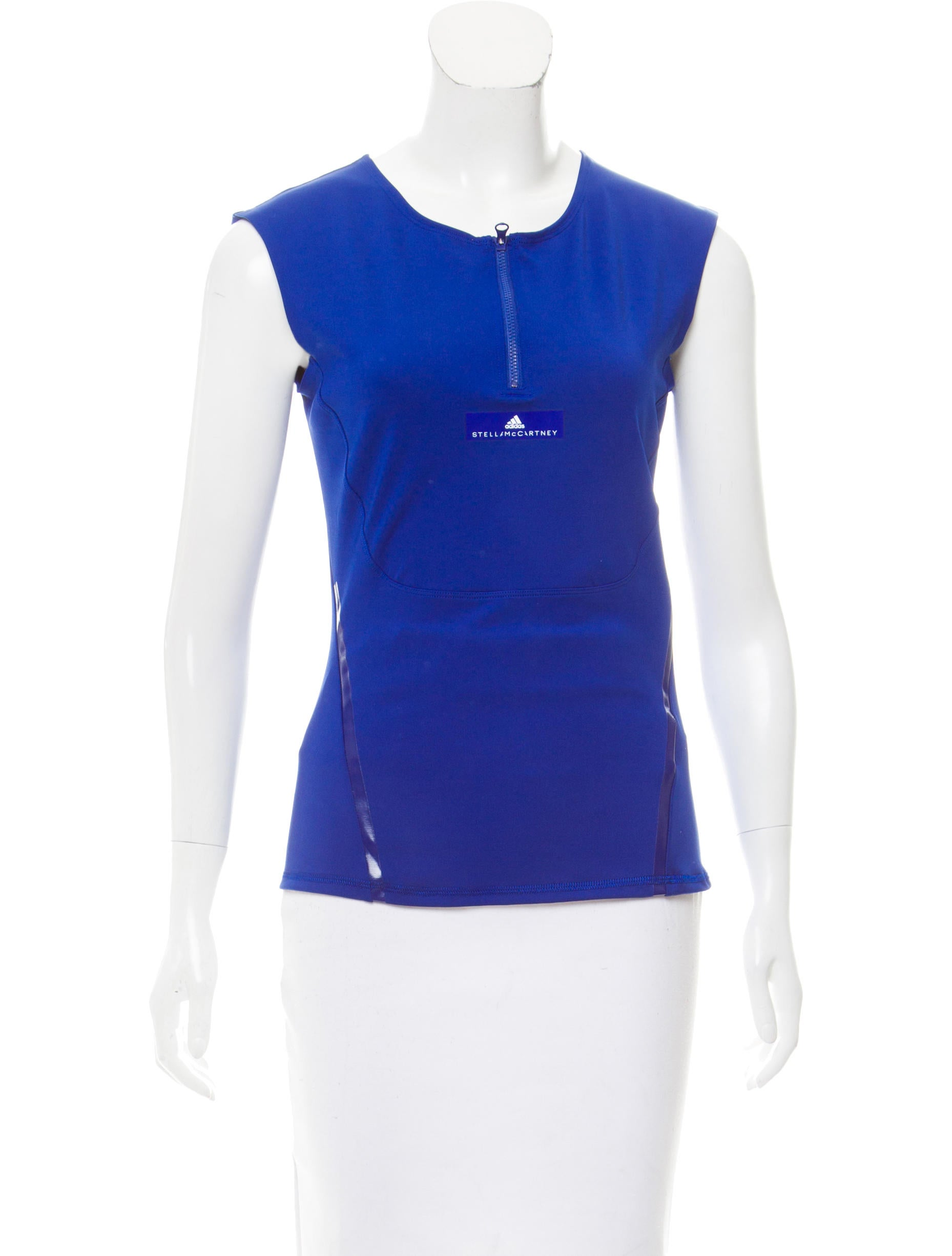 Stella mccartney for adidas sleeveless athletic top w for Best athletic dress shirts