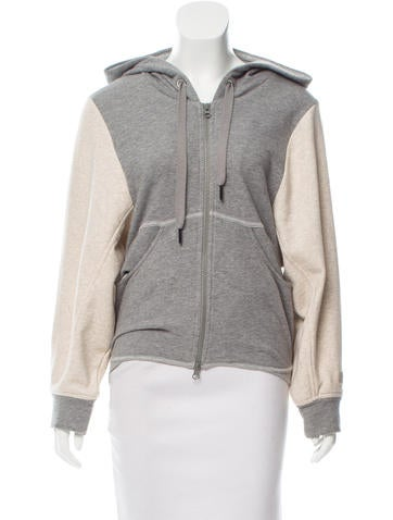 Stella McCartney for Adidas Hooded Zip-Up Sweater None