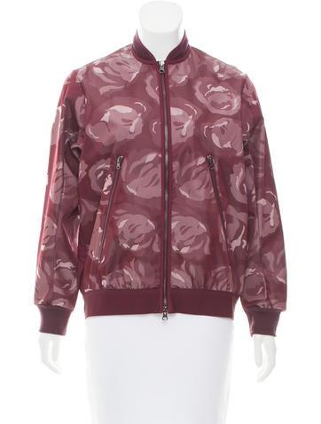 Stella McCartney for Adidas Rose Jacquard Bomber Jacket None