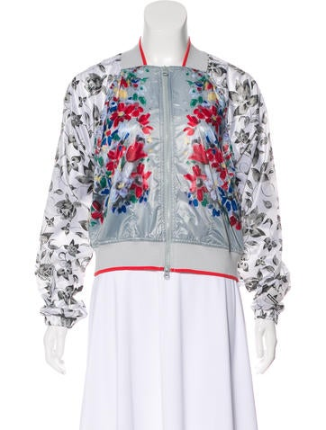 Stella McCartney for Adidas Floral Print Bomber Jacket None