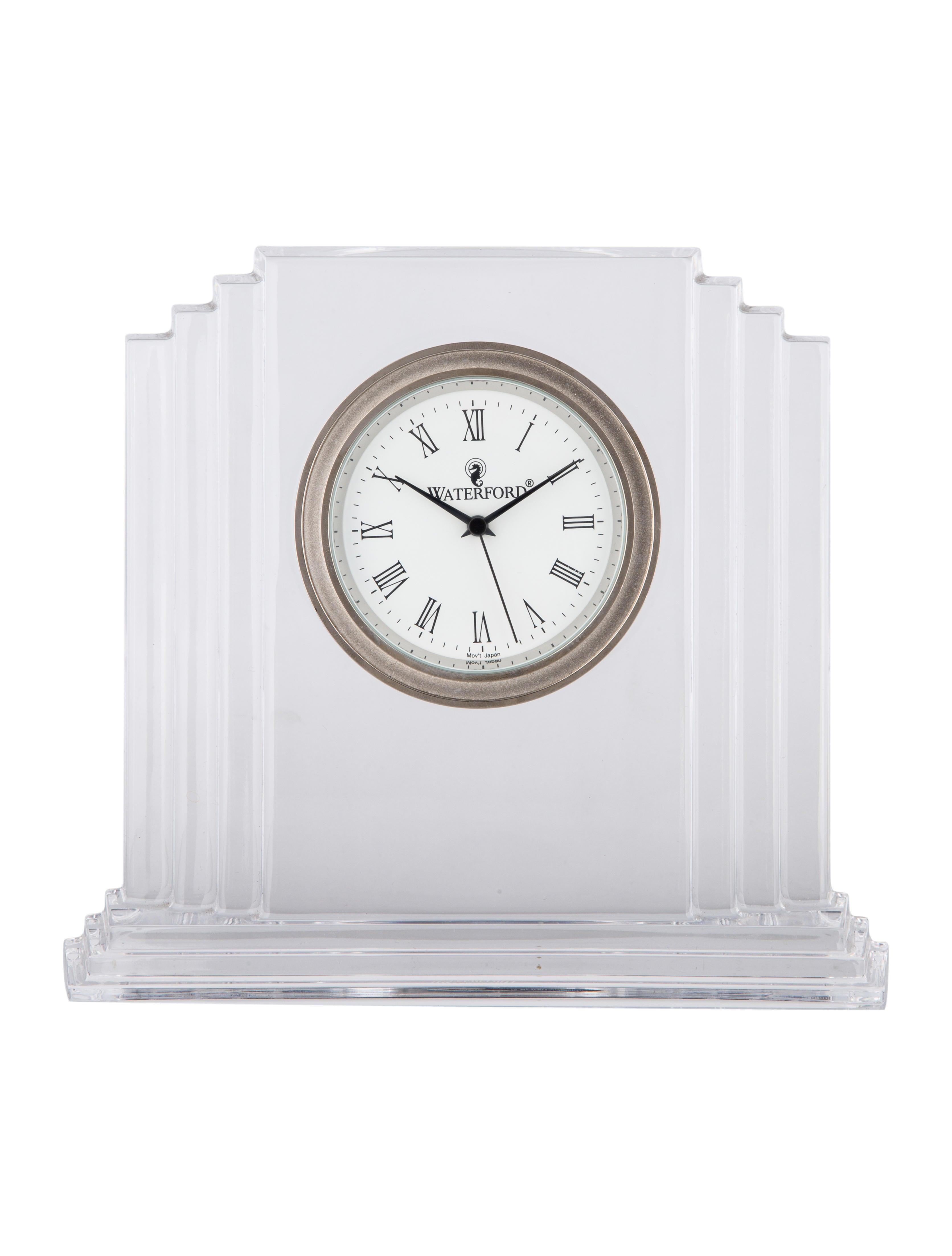 Crystal Metropolitan Desk Clock