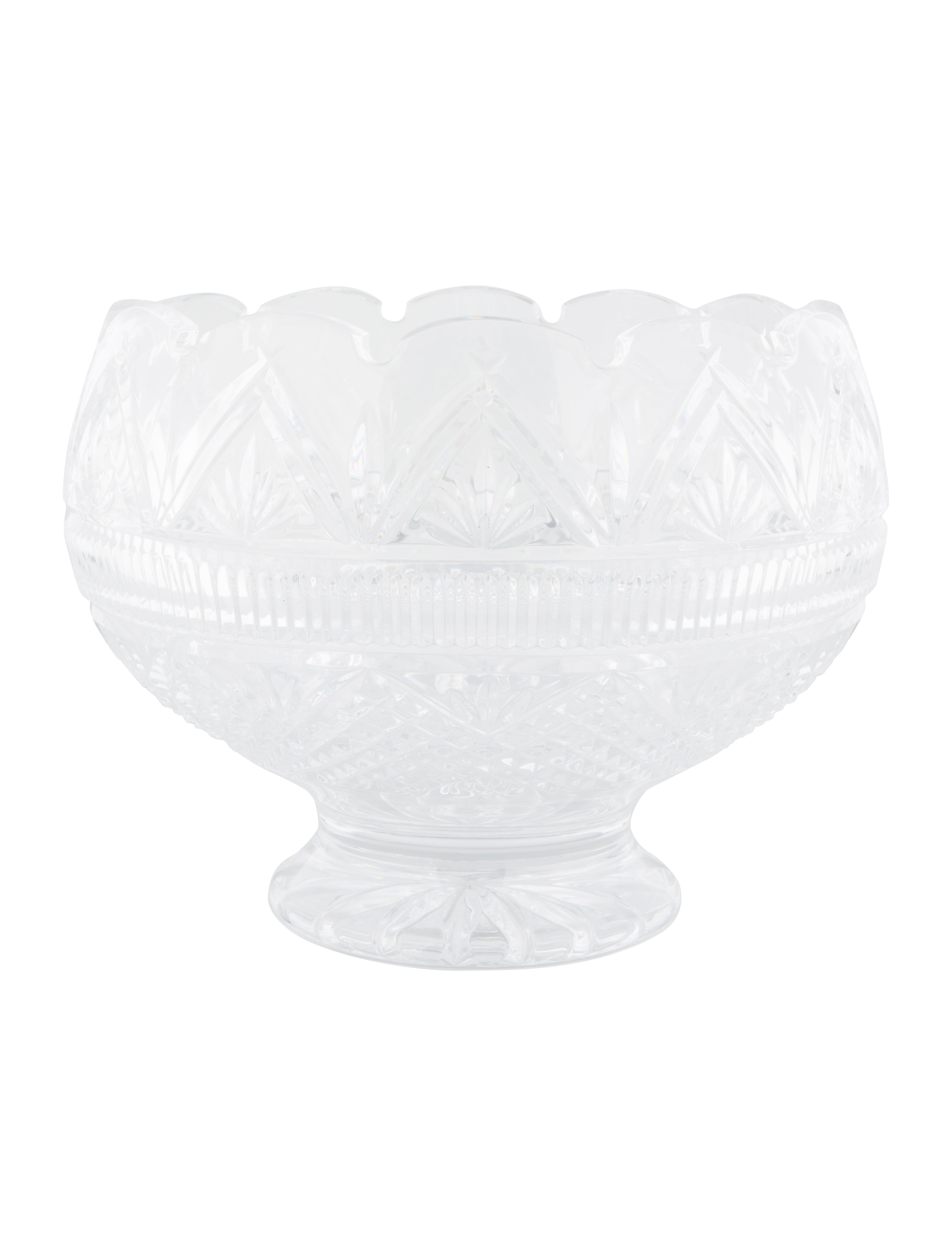 Waterford crystal footed centerpiece bowl tabletop and kitchen w5w22090 the realreal - Footed bowl centerpiece ...