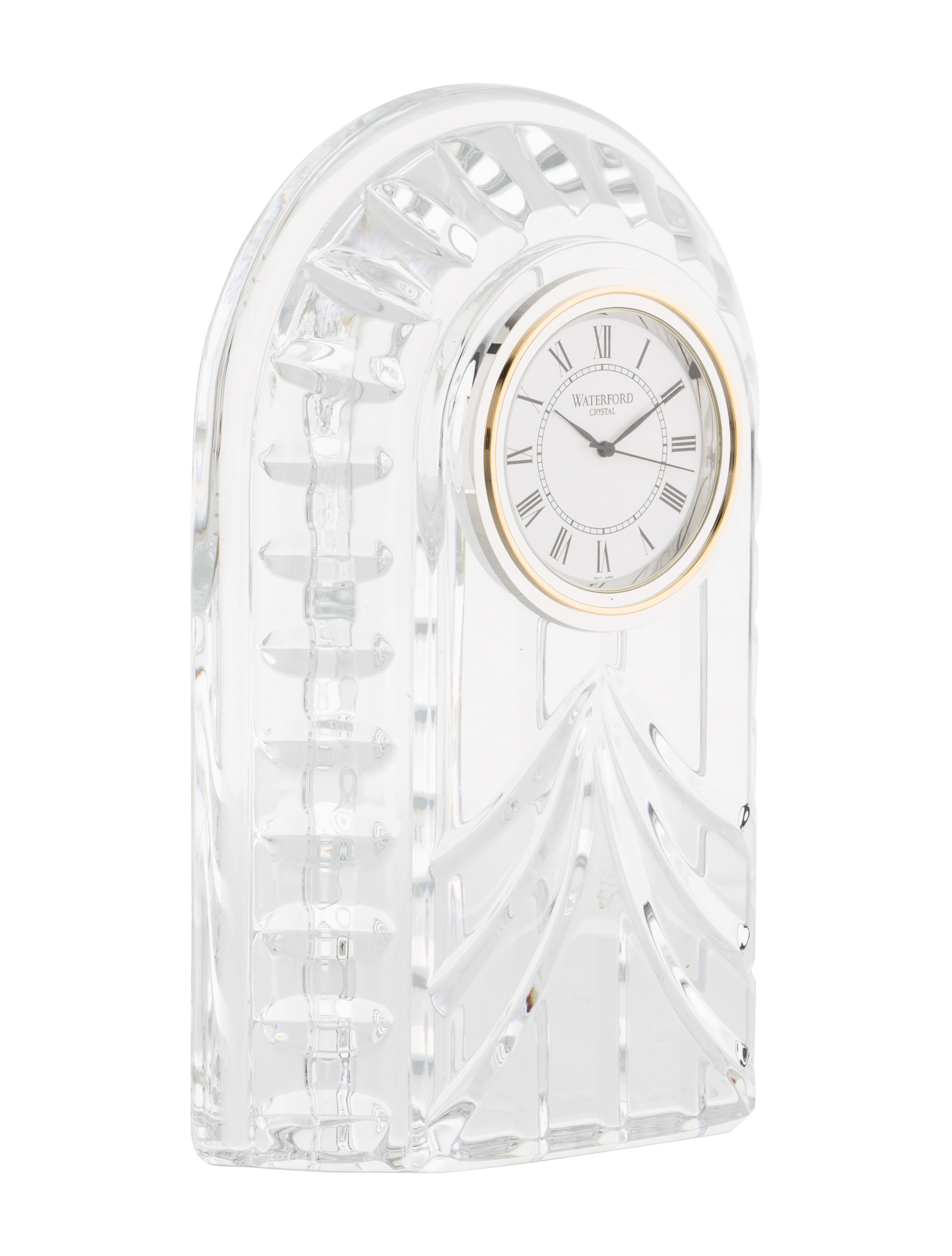 Waterford crystal overture clock decor and accessories Crystal home decor