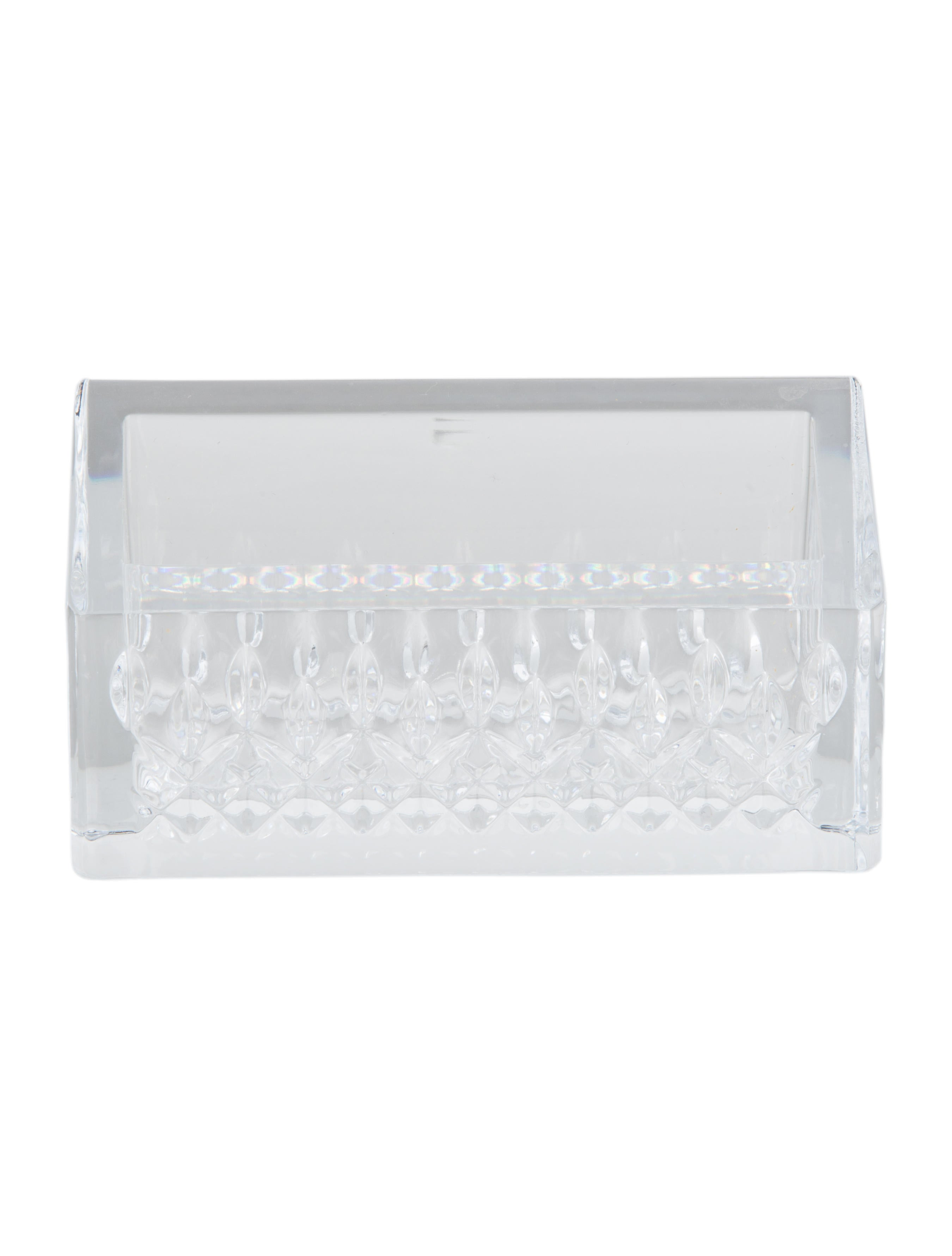 Waterford Crystal Lismore Essence Business Card Holder - Decor And ...
