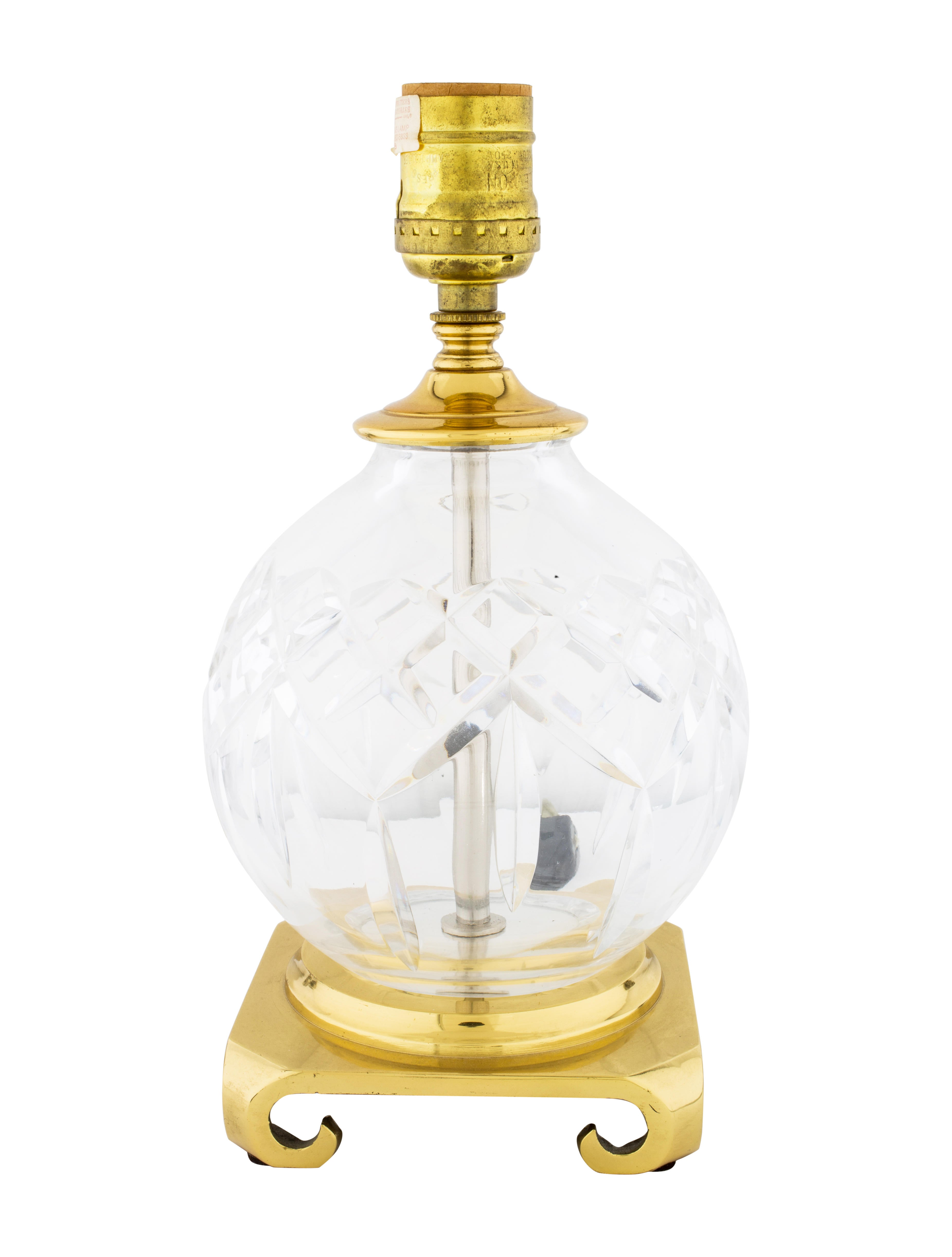 how to clean waterford crystal lamps