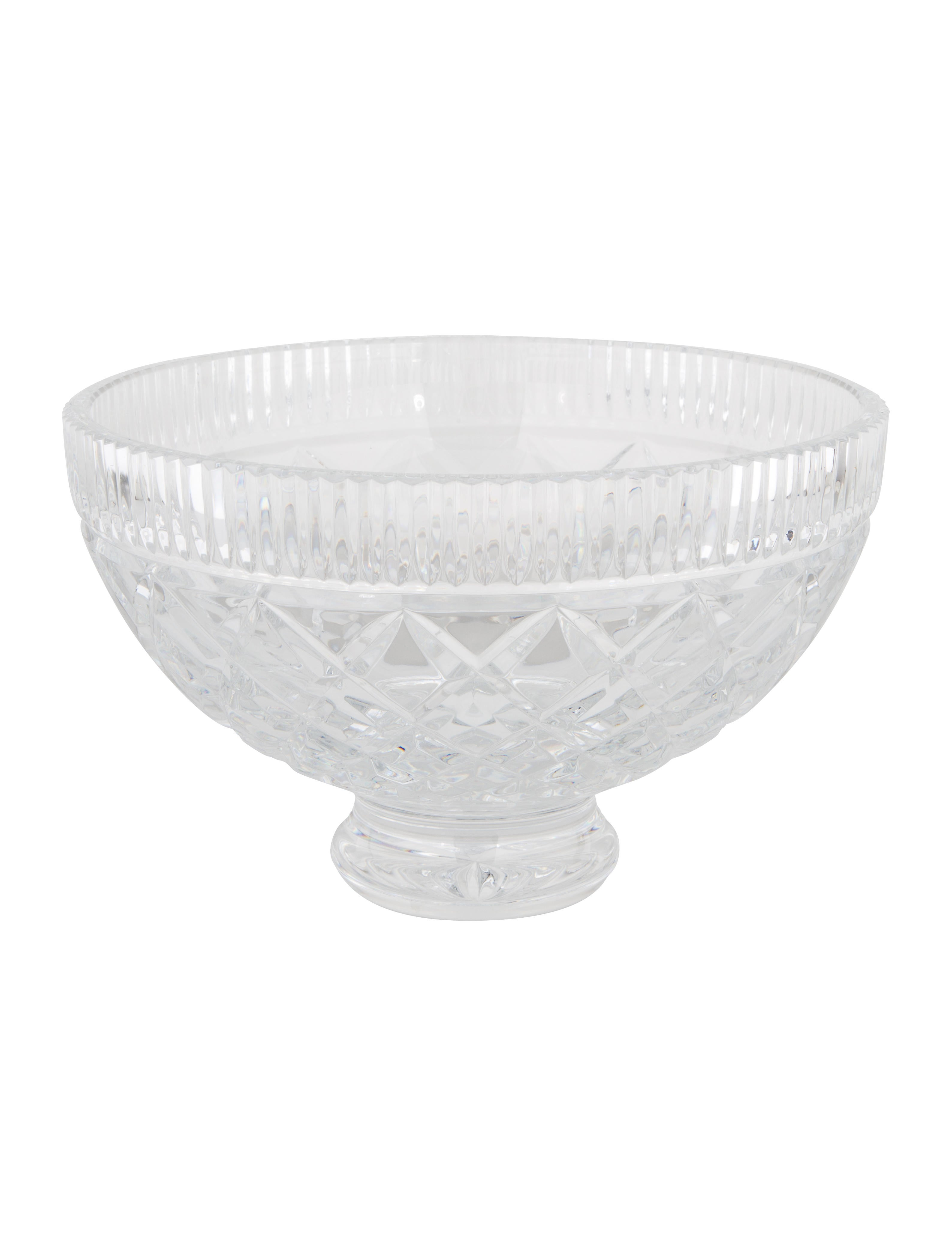 Waterford crystal footed centerpiece bowl tabletop and kitchen w5w22758 the realreal - Footed bowl centerpiece ...