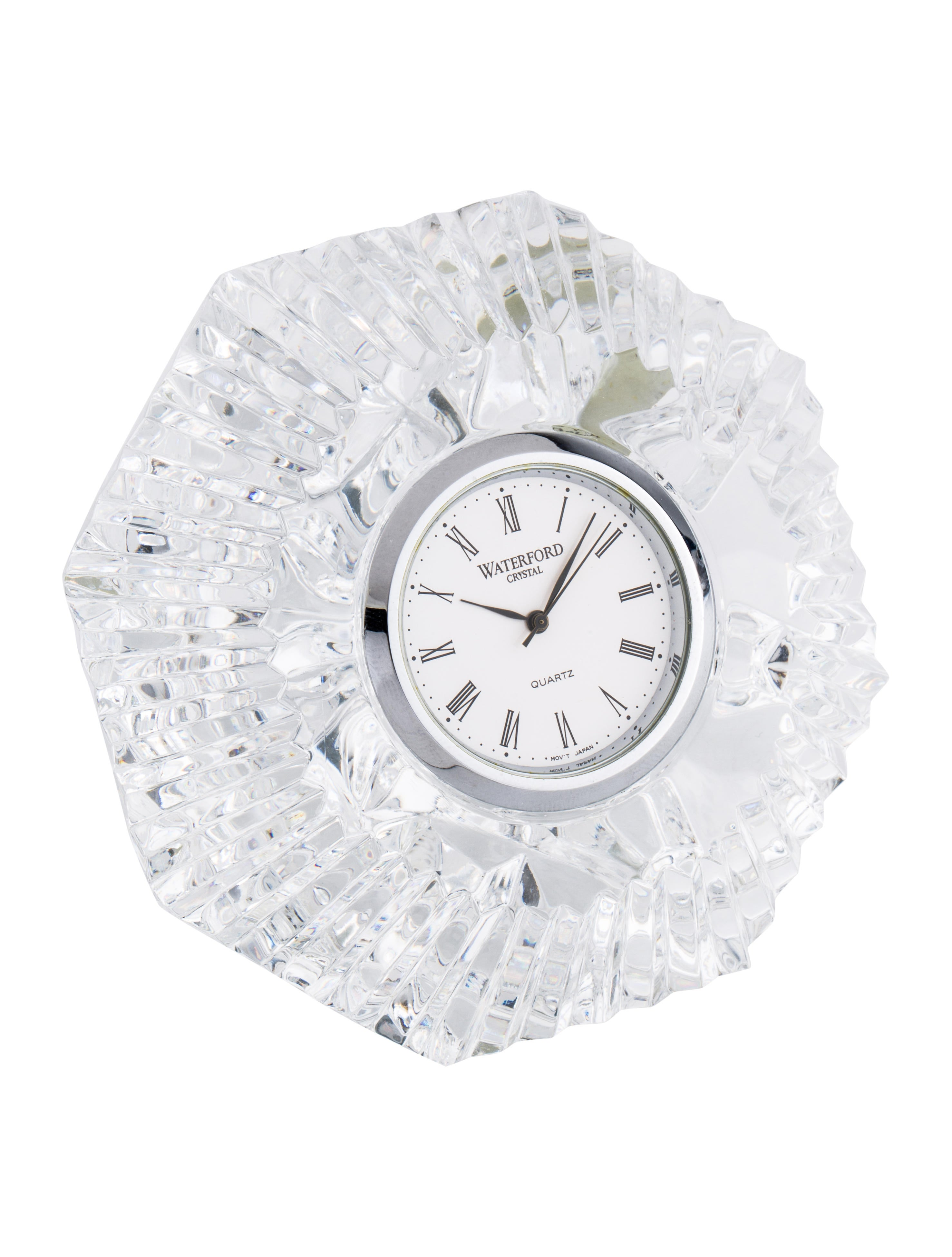 Crystal Diamond Silver Golden Round Flower Heart Anklet: Waterford Crystal Diamond Paperweight Clock