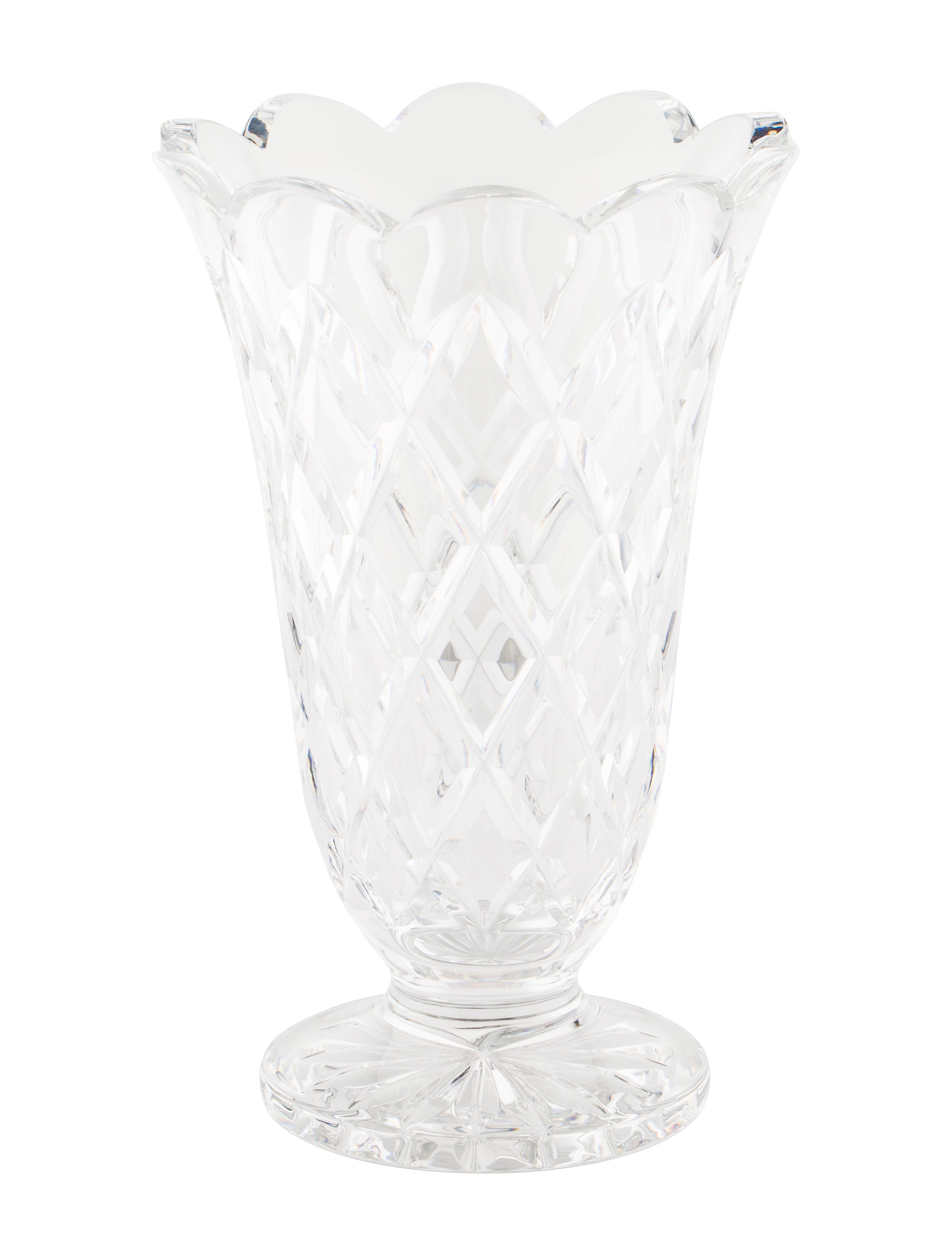 Waterford crystal footed vase decor and accessories Crystal home decor