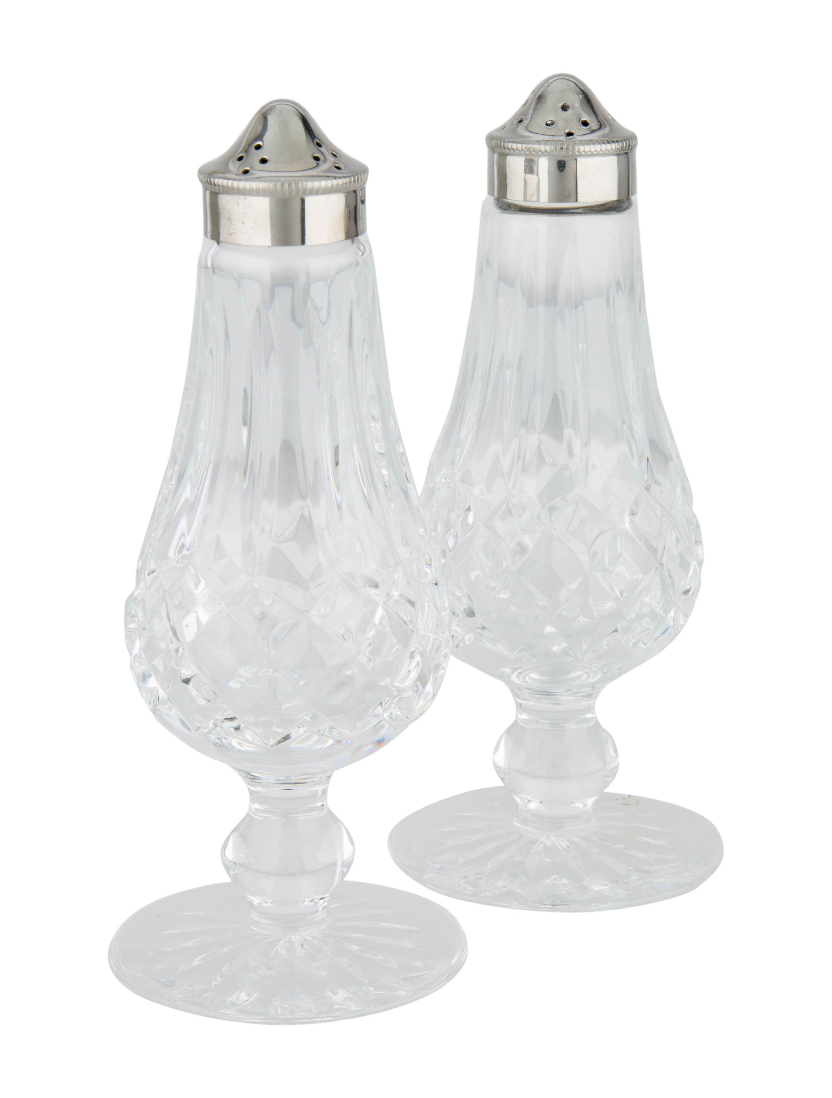 Waterford Crystal Lismore Salt Pepper Shakers Tabletop And