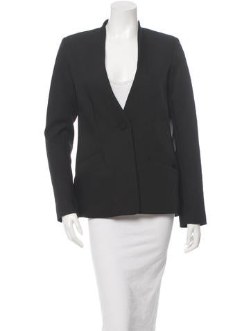 Protagonist Single-Button Closure Collarless Blazer w/ Tags None