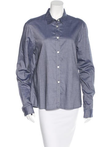 6397 Oversize Button-Up Top None