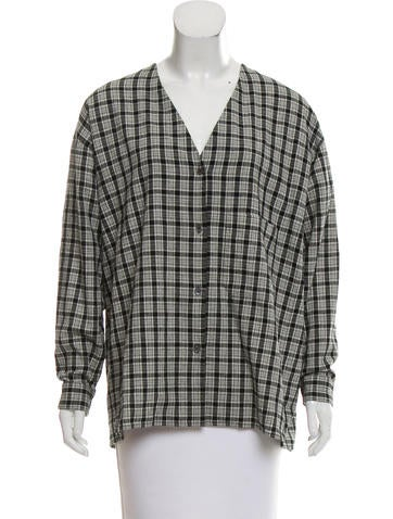6397 Oversize Plaid Button-Up None