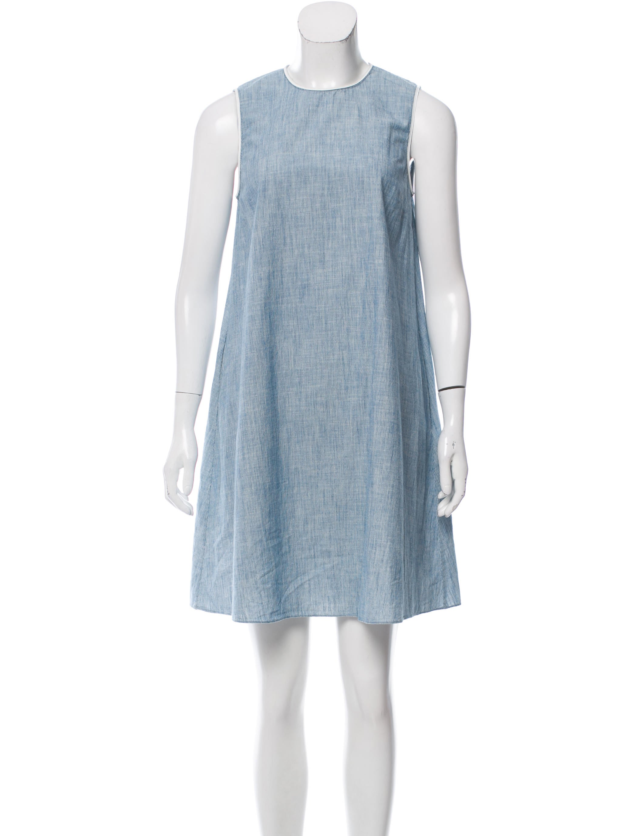 6397 striped chambray dress clothing w6320793 the for Chambray dress
