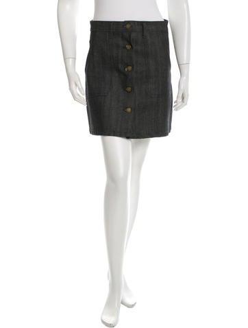Apiece Apart Denim A-Line Skirt