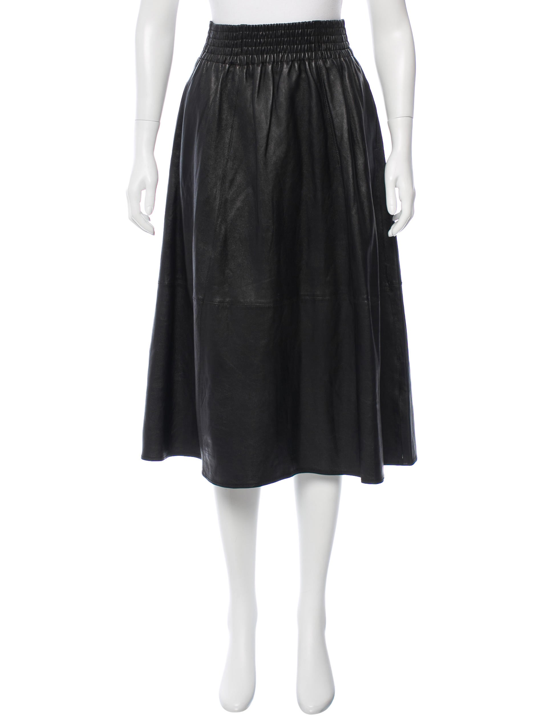 apiece apart leather midi skirt skirts w6a20869 the