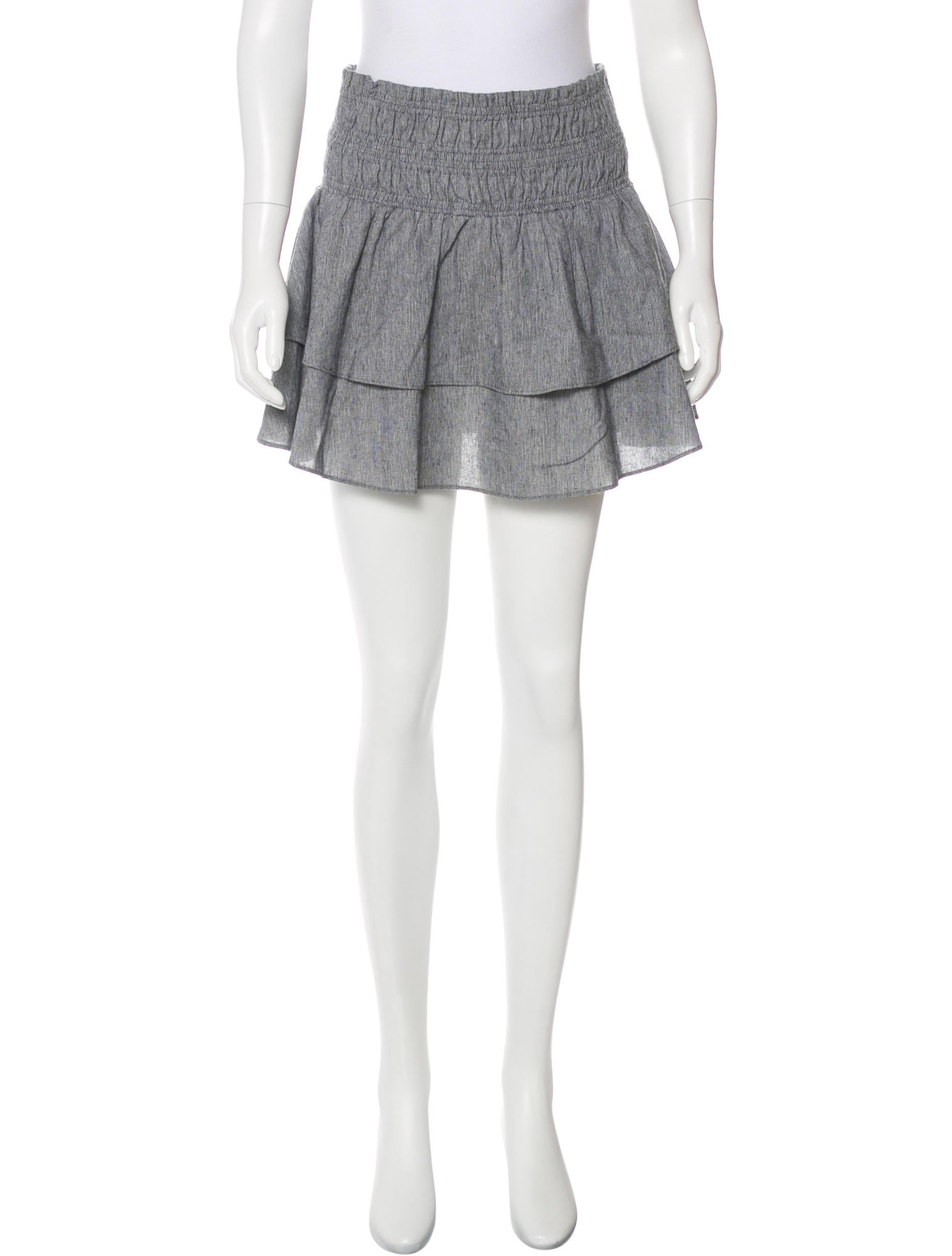 apiece apart printed a line skirt clothing w6a21336