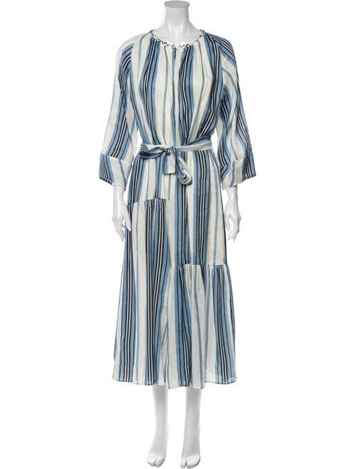 Apiece Apart Linen Long Dress White