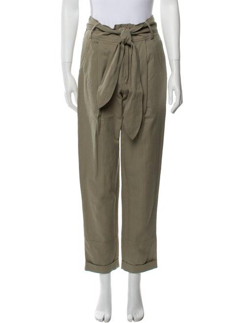 Apiece Apart Linen Straight Leg Pants Green - image 1