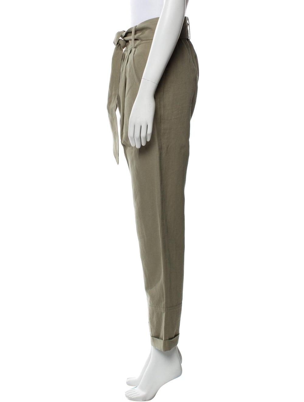 Apiece Apart Linen Straight Leg Pants Green - image 2