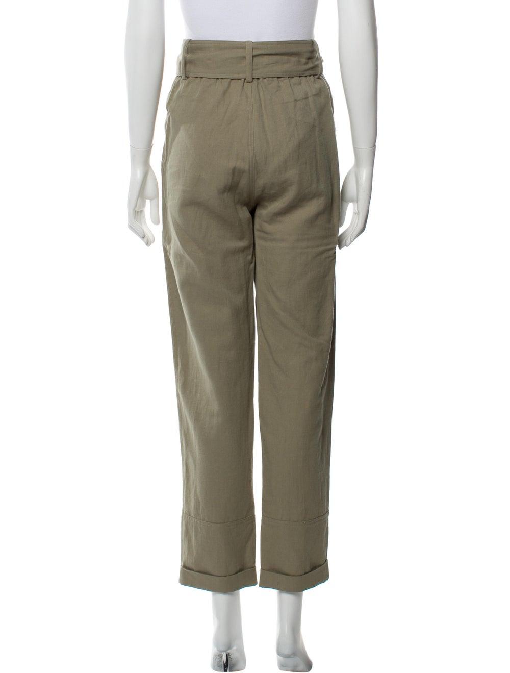 Apiece Apart Linen Straight Leg Pants Green - image 3