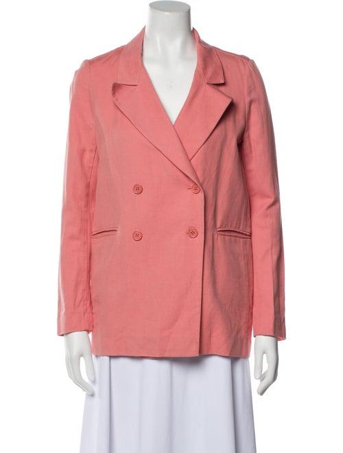 Apiece Apart Linen Blazer Pink