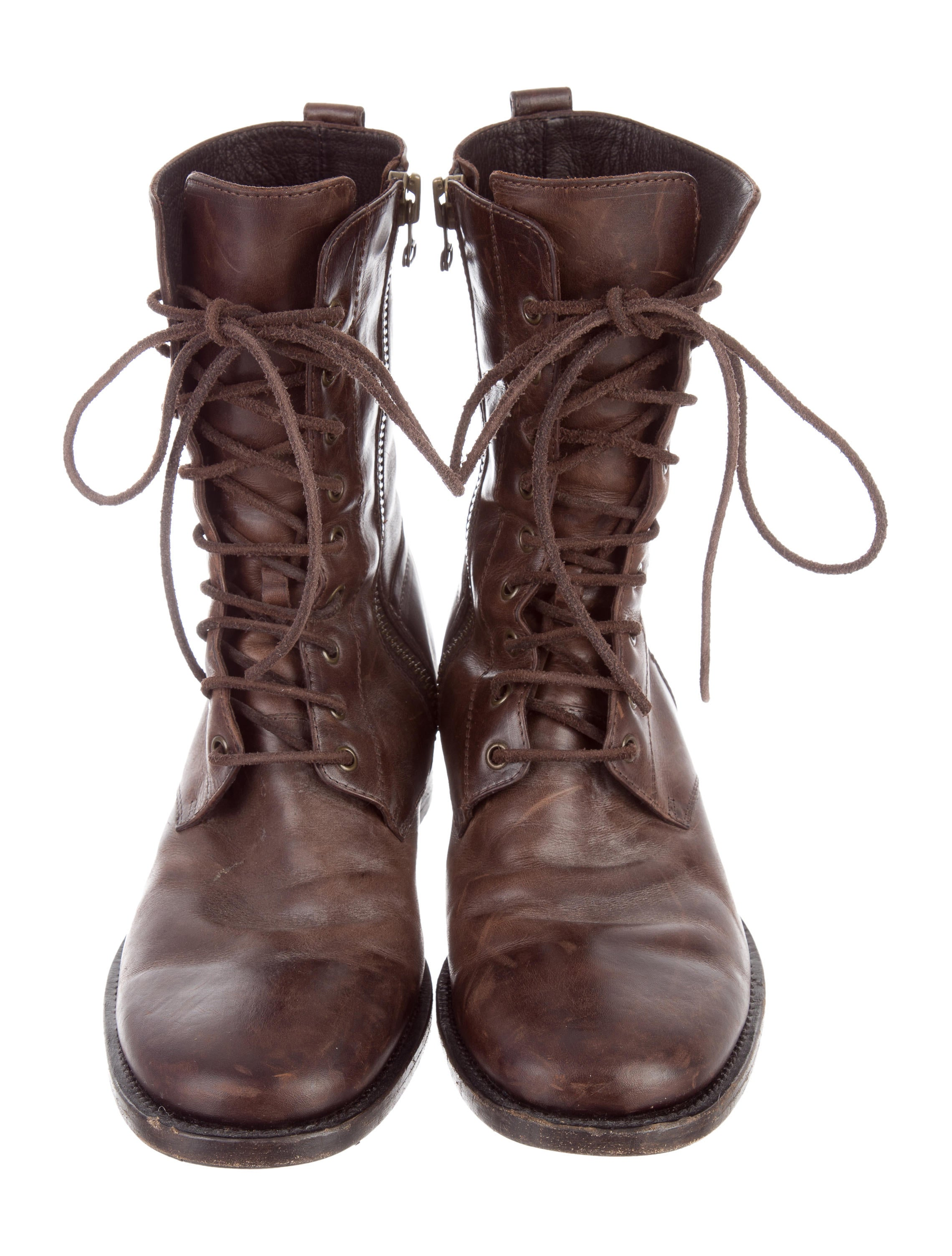 Buttero Leather Combat Boots - Shoes - W6B20029 | The RealReal