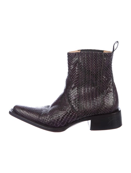 Buttero Snakeskin Boots Purple