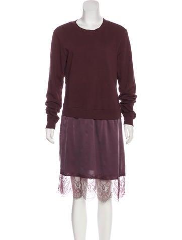Clu Lace-Trimmed Midi Dress None