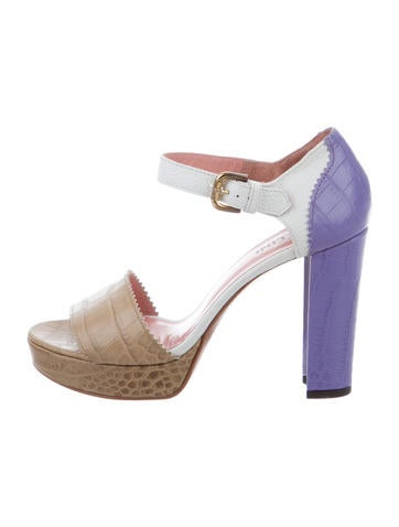 Studio Pollini Embossed Platform Sandals w/ Tags choice for sale clearance online fashionable online TPFIN