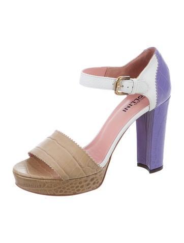 buy cheap pick a best Studio Pollini Embossed Platform Sandals w/ Tags supply sale online shop offer sale online 2015 online DVNggosO