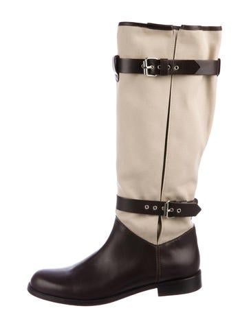 cheap marketable buy cheap tumblr Studio Pollini Dual-Strap Knee Boots kHnTgX2Dlv