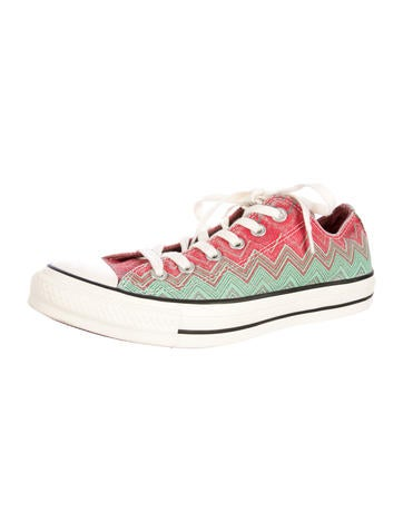Missoni for Converse Chevron Striped Low-Top Sneakers