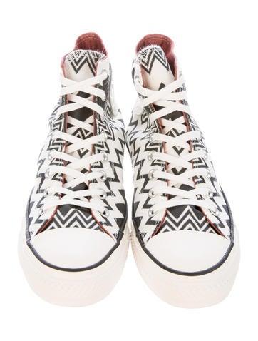 Chevron High-Top Sneakers