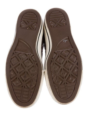 High-Top Chevron Sneakers