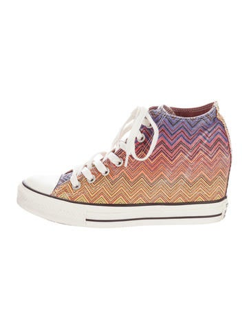 Chevron Wedge Sneakers