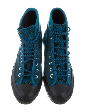 missoni x converse suede high top sneakers shoes