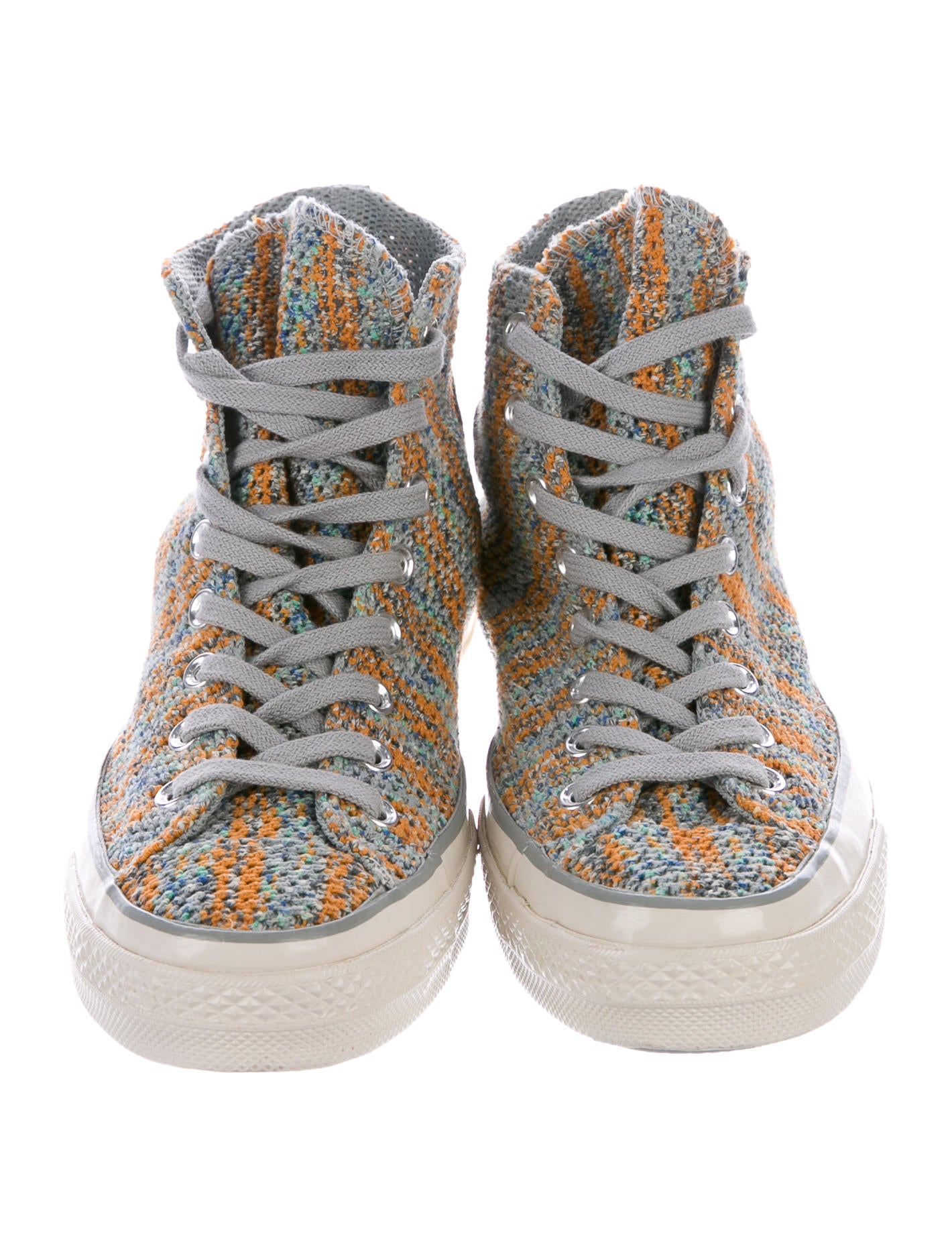 missoni x converse knit high top sneakers shoes