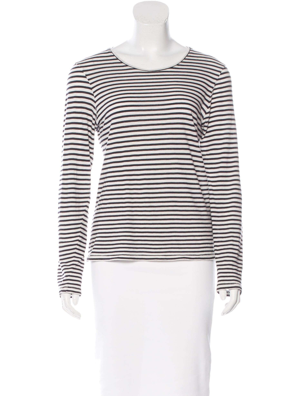 Anine Bing Long Sleeve Striped Top - Clothing