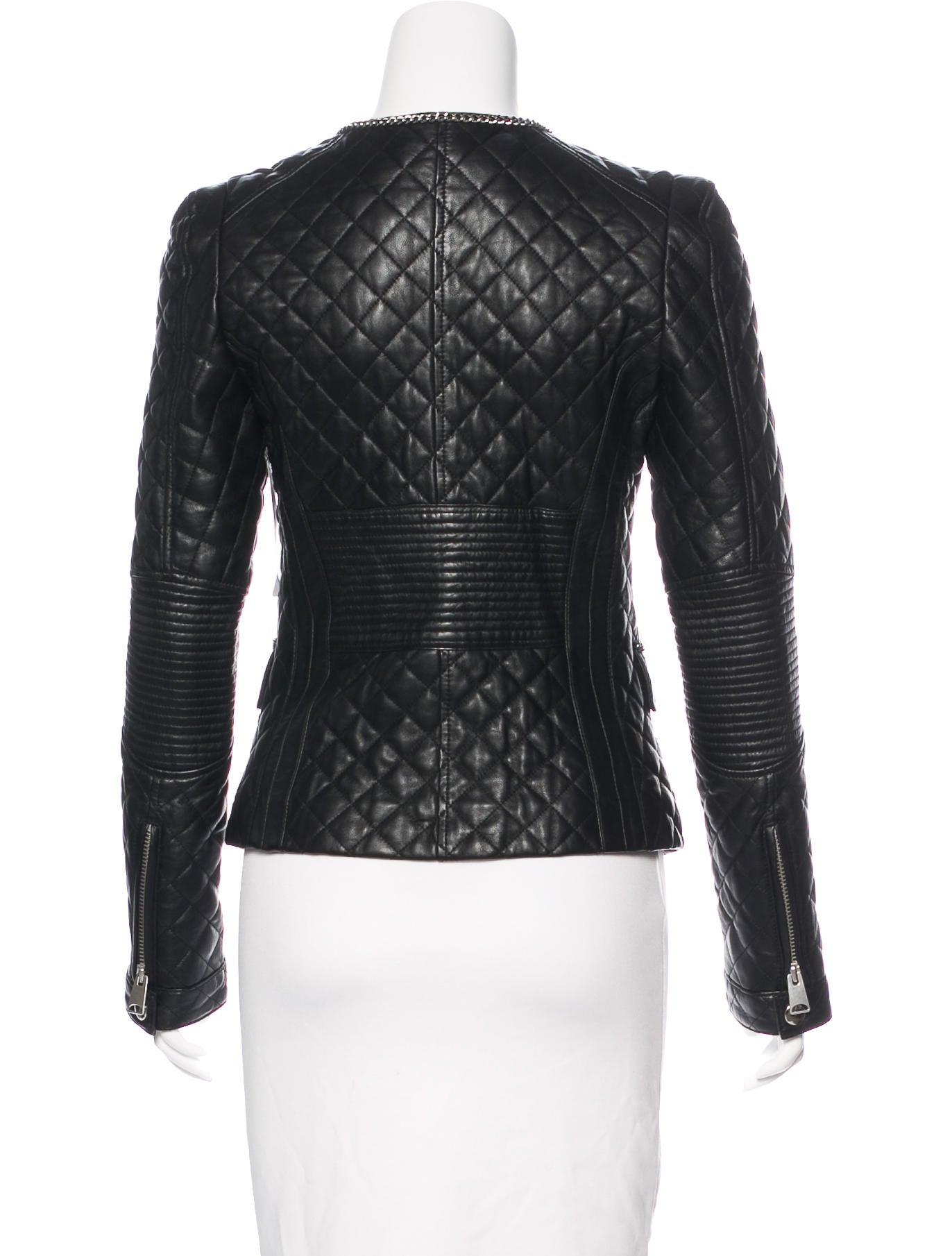 Anine Bing Quilted Leather Jacket - Clothing - W6O20687 | The RealReal : white quilted leather jacket - Adamdwight.com