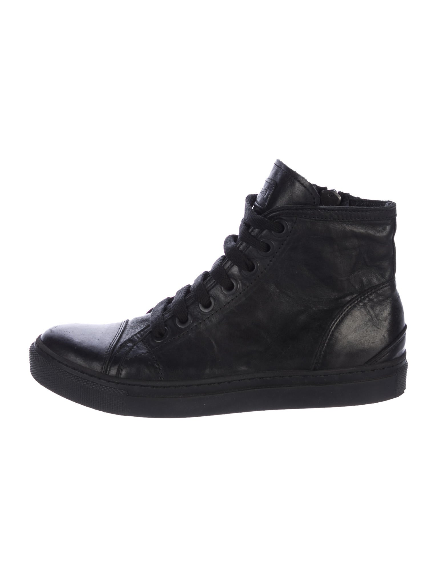 buy sale online brand new unisex for sale Anine Bing Leather High-Top Sneakers cheap sale geniue stockist uI9fHhSe