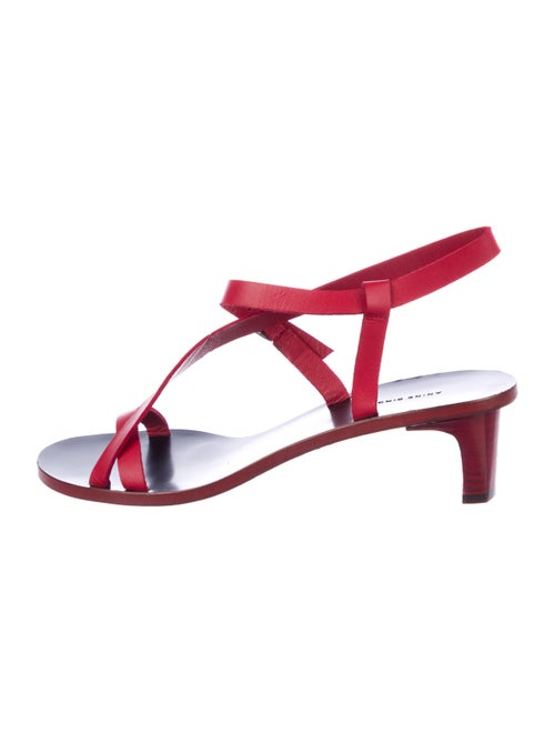 Anine Bing Leather Sandals Red
