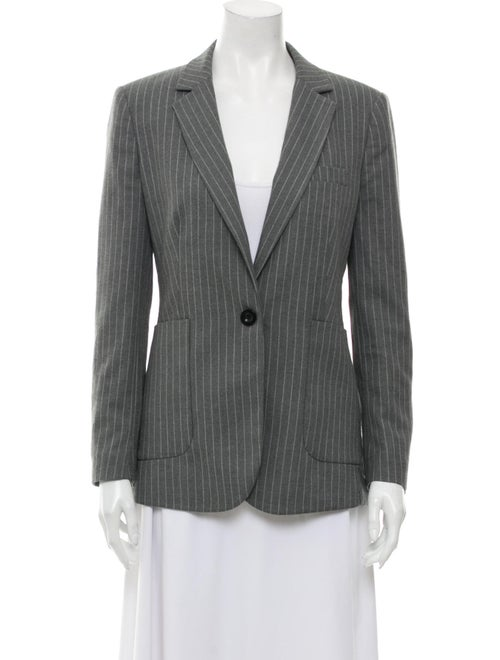 Anine Bing Striped Blazer Grey