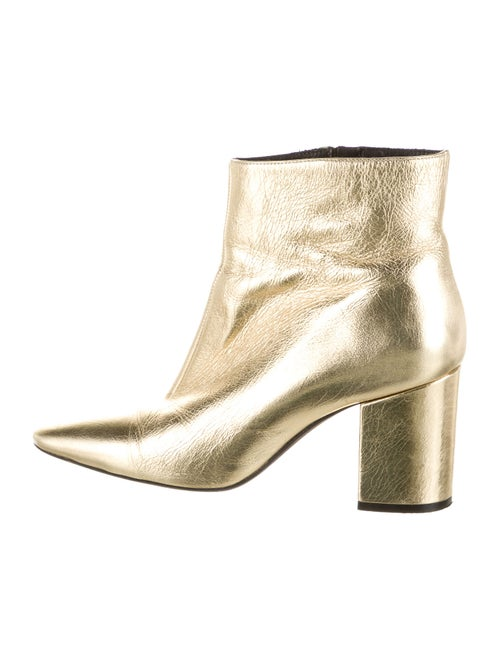 Anine Bing Leather Boots Gold